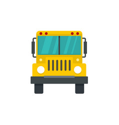 front of school bus icon flat style vector image