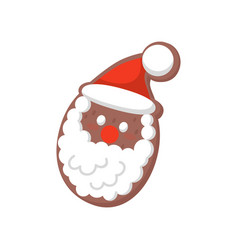 funny gingerbread santa claus decorated with vector image