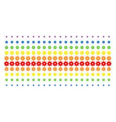 gear shape halftone spectral effect vector image