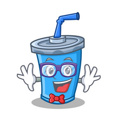 Geek soda drink character cartoon vector