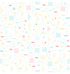 geometric memphis style seamless pattern vector image