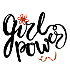 Girl power lettering font or t-shirt print mockup vector