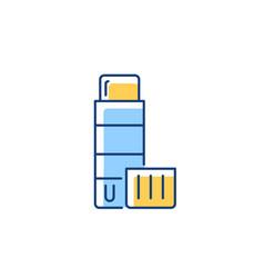 Glue stick rgb color icon vector