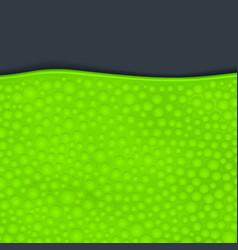 Green slime on dark vector