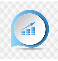 growing graph icon geometric background ima vector image