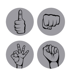 Hands human set collection symbol vector