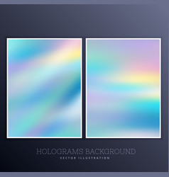 Hologram background with soft pastel colors vector