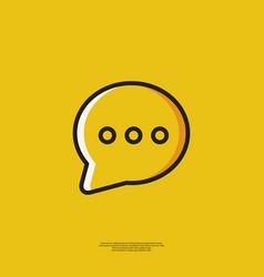 Icon speech bubble vector