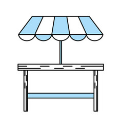 isolated table design vector image