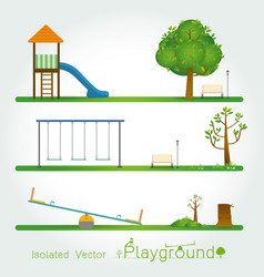 kids playground set vector image