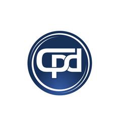 letter cpd logo design template vector image