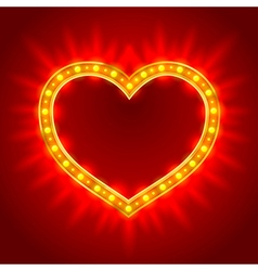 Light heart vector