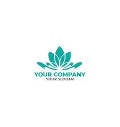 lily flower logo design vector image
