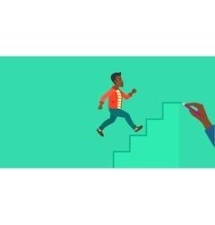 Man running upstairs vector