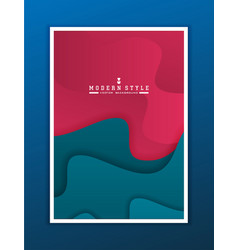 minimal template in paper cut style design for vector image