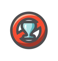 no alcohol sign icon cartoon vector image