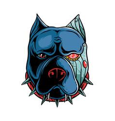pitbull cyborg vector image