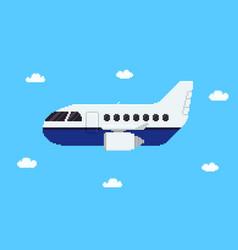 Pixel aircraft vector