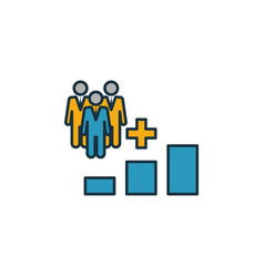 Population growth icon set four elements in vector