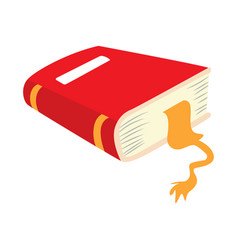 red book flat drawing vector image