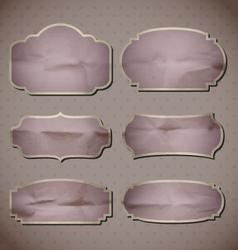 retro crumpled frames vector image