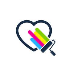 romantic paint logo icon design vector image