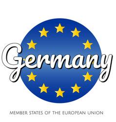 round button icon national flag the european vector image