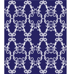 Seamless pattern - damask ornamental background vector