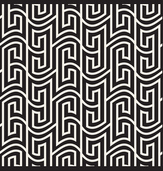 Seamless pattern geometric wavy striped vector