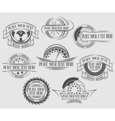 Set auto badges with place for text vector