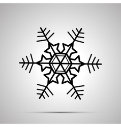 Simple black snowflake icon vector
