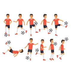 Soccer players football sport athletes in actions vector image