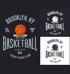 Streetball or urban sport team badge or sign vector