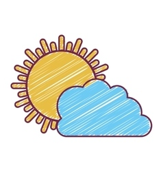 Sunny day weather vector