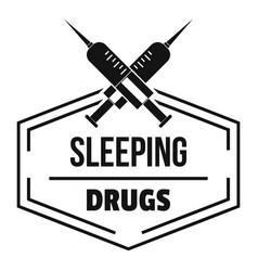 syringe drug logo simple black style vector image