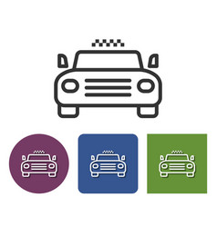 Taxi line icon in different variants vector