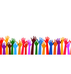 teamwork hands with transparency seamless vector image