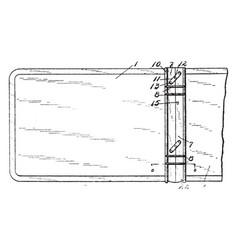 Temporary binder vintage vector