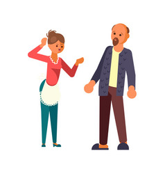 The married couple quarrels vector