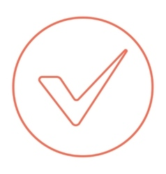 Tick line icon vector