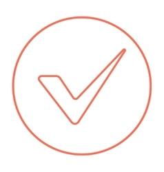 Tick line icon vector image
