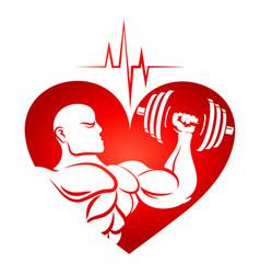 Training and cardio symbol vector