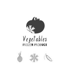 Vegetables logo template vector