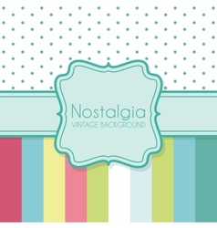 Vintage background with frame vector image