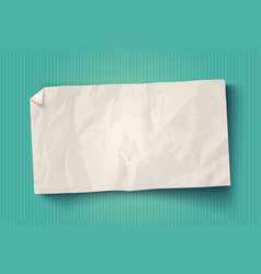 vintage white paper vector image