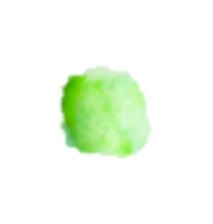 Watercolor green smear on white background vector