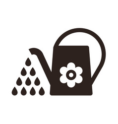 Watering can irrigation symbol vector