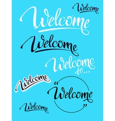Welcome Sign symbol word welcome vector image