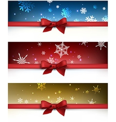 Winter festive backgrounds set vector