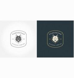 wolf head logo emblem vector image